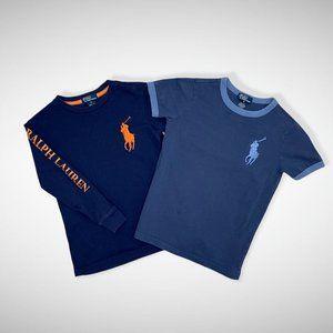 Ralph Lauren 2 T-Shirts Navy w/Logo Kids